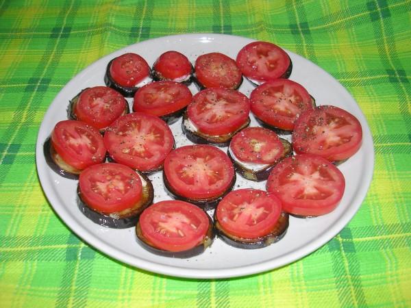 закуска из помидоров и баклажанов