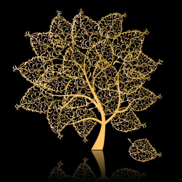 golden-tree-vector-material-21140