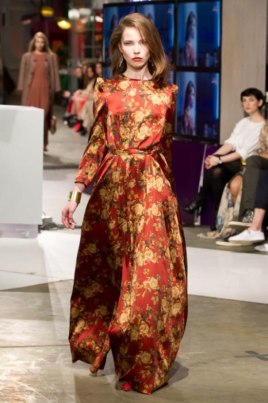 Вечернее платье из платков