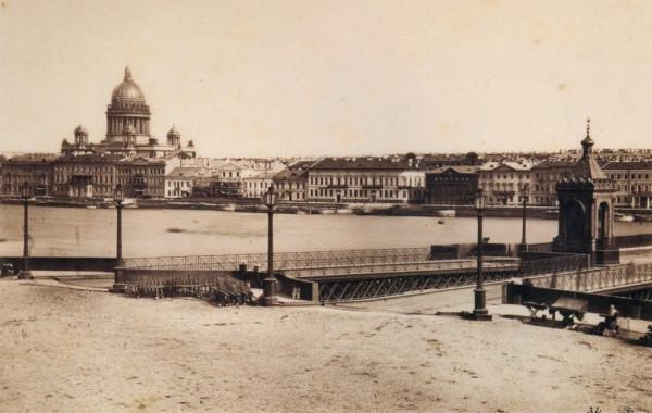 Английская набережная и Николаевский мост,1860