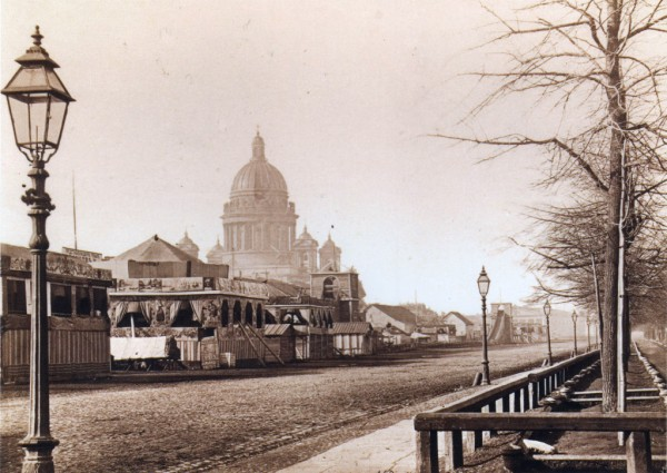 Балаганы во время святочной недели в Адмиралтейском парке,1860