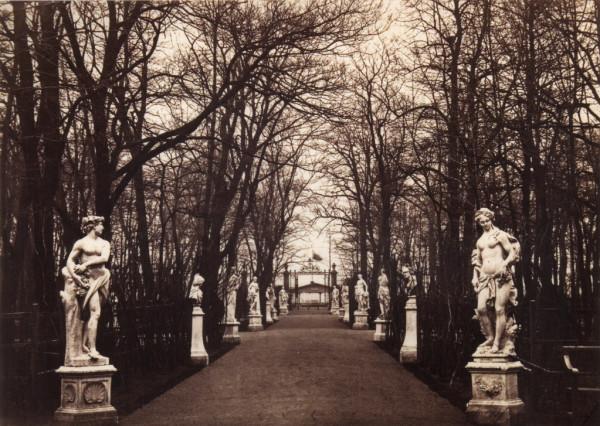 Большая аллея в Летнем саду,1860