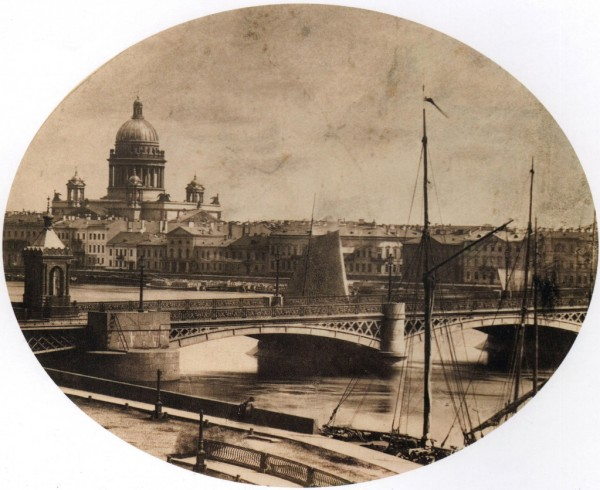 Вид на Николаевский мост и Исаакиевский собор,1870-е