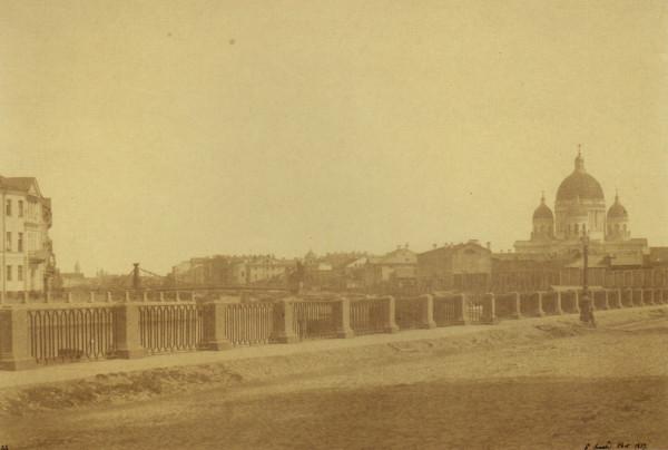 Вид на Троицкий собор с набережной Крюкова канала,1857