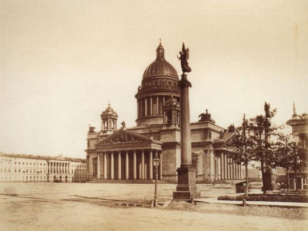 Исаакиевский собор.Вид со стороны Конногвардейского бульвара,1870-е
