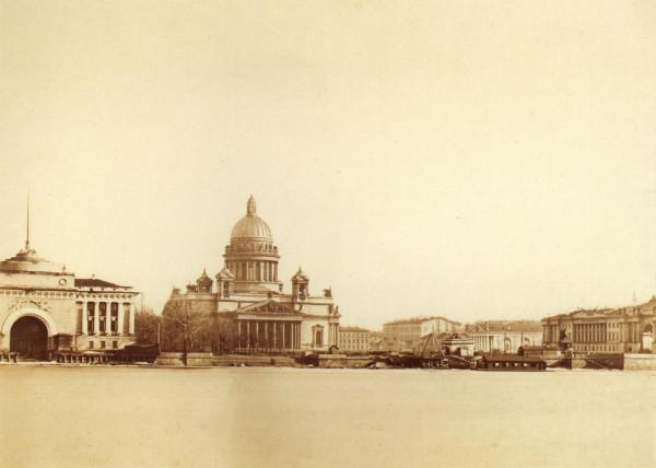 Нева. Адмиралтейство,1874