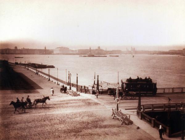 Троицкий мост и панорама Невы, 1886