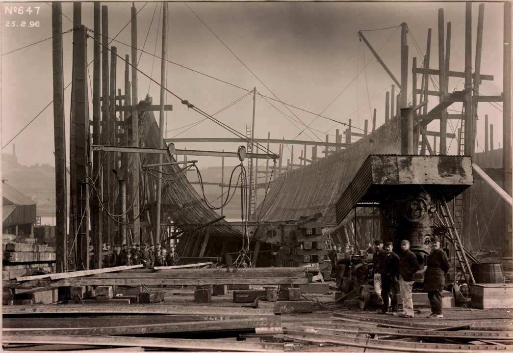 Ледокол Байкал на стапели в Англии. 1896г