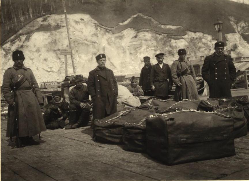 Отправка почты под конвоем казаков на ст.Байкал