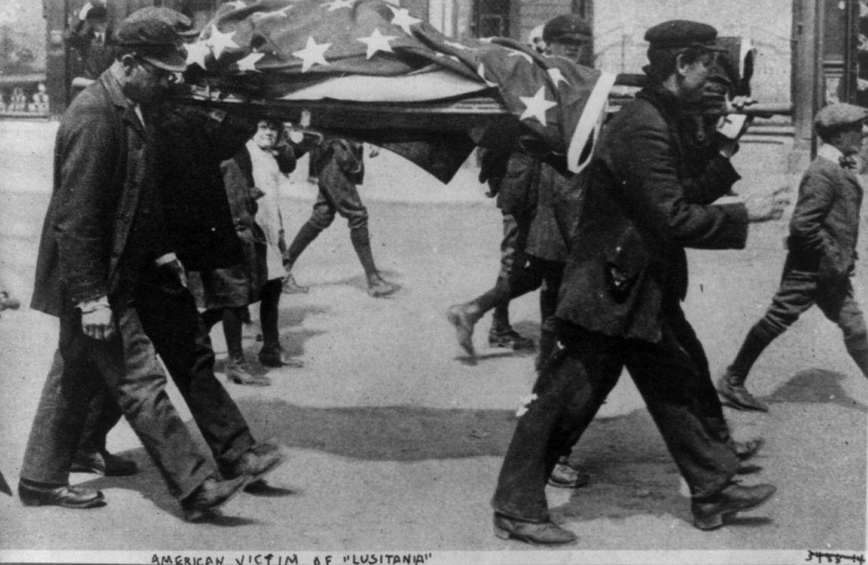 Американские жертвы с Лузитании 27 мая 1915 года