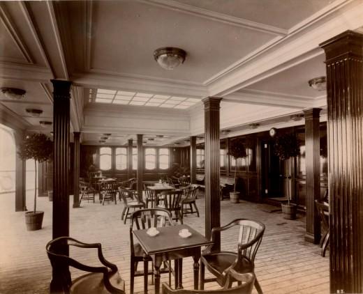 Кофе -салон  на Лузитании.