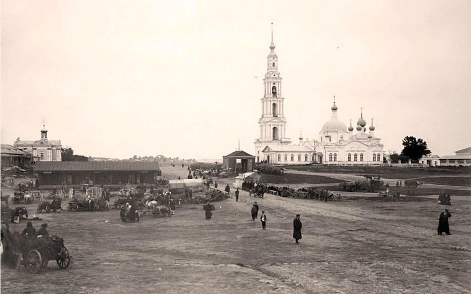 Общий вид города Калязина и Николаевского собора. 1903 г. г. Калязин, Тверская губерния