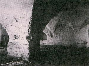 Интерьер трапезной Макарьева Калязинского монастыря. Фот. 1930-х гг.
