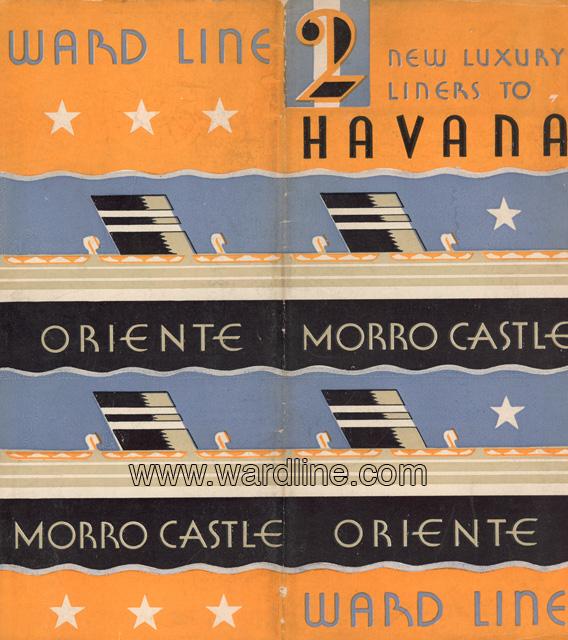 Рекламная брошюра Ward Line 1931 года