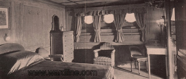 Интерьеры Morro Castle. Suite 3 on A-Deck, Circa 1931