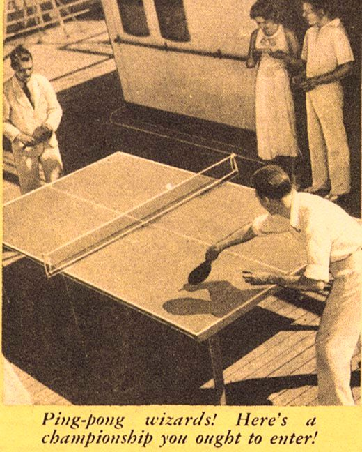 Morro Castle Publicity - Ping-pong wizards...