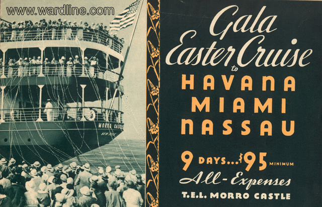 Реклама Morro Castle  Easter Cruise 1933