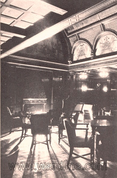 Интерьеры Morro Castle. The Smoking Room, Circa 1931