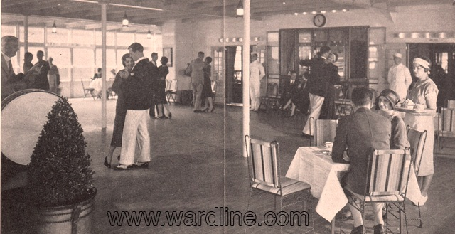 Интерьеры Morro Castle. The Deck Ballroom, Circa 1932