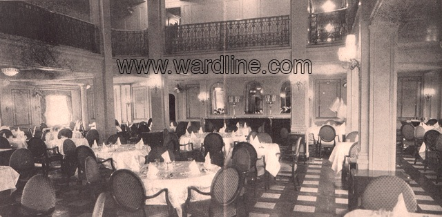 Интерьеры Morro Castle. The First Class Dining Room, Circa 1930