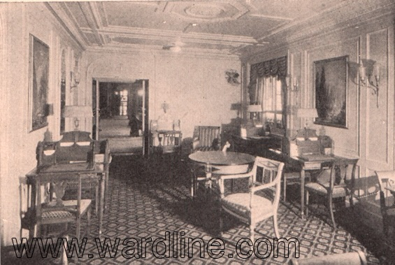 Интерьеры Morro Castle. The Writing Room, Circa 1931