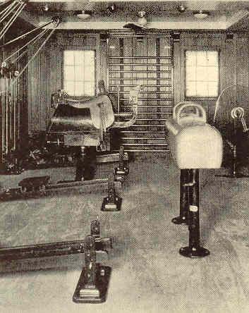 Интерьеры Morro Castle. Гимнастический зал.Круиз 1930 года.