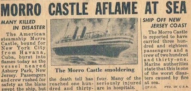 Газеты о трагедии на Morro Castle