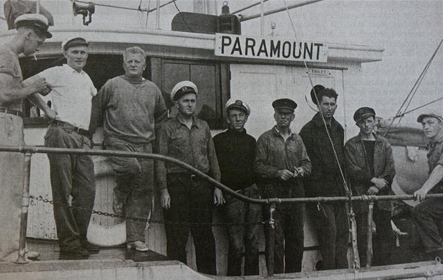 Спасательное судно PARAMOUNT и экипаж, принимающий участие в спасательной операции на Morro Castle