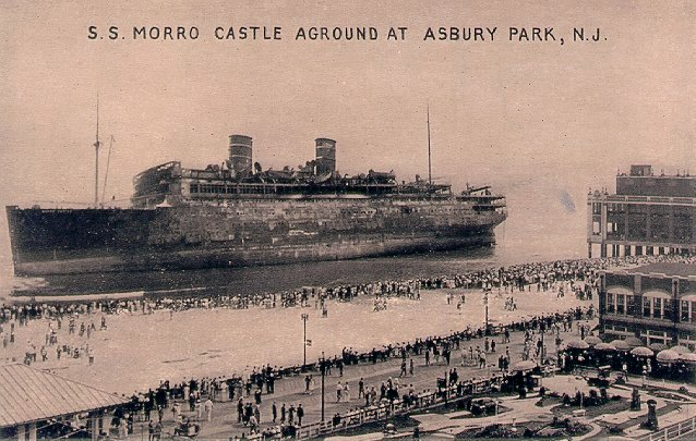 Morro Castle aground at Asbury park