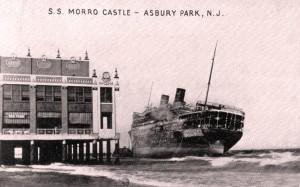 Morro Castle в Asbury park после пожара