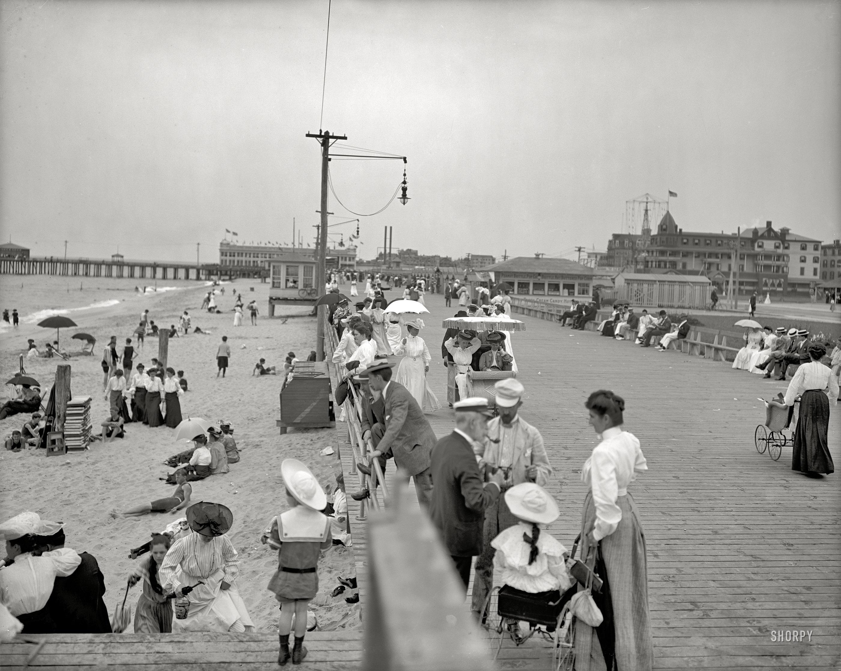 Boardwalk and beach, Asbury Park