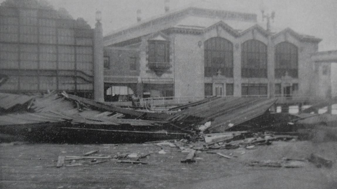 1944 Vintage Postcard ASBURY PARK AMUSEMENTS PAVILION Boardwalk Damage after Hurricane 14 September 1940s NEW JERSEY2