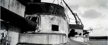 Батарея 130 мм орудия линкора «Генерал Алексеев».Бизерта. 20- годы