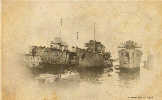 «Дерзкий», «Пылкий», «Беспокойный» в 1922 году в Бизерте