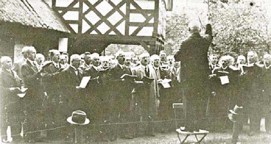 Выступление Кёнигсбергского союза преподавателей пения  под управлением дерижера Георга Бланка Зоопарке Кёнигсберга в 1928 году