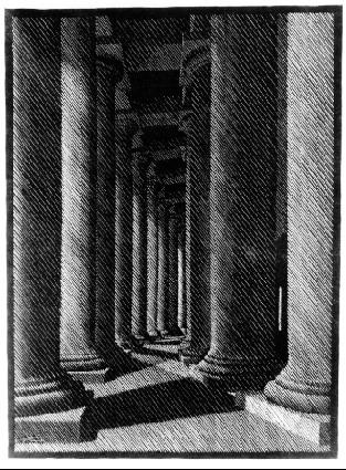 Ночной Рим. Колонада Св.Петра