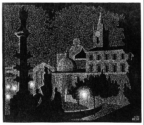 Ночной Рим. Санта Мария дель Пополо.