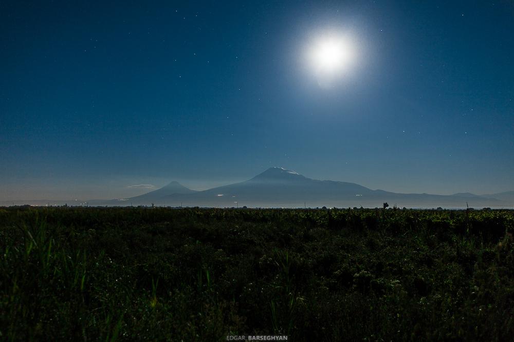 Арарат и луна в перигее