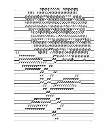 Рисунок знаками клавиатуры