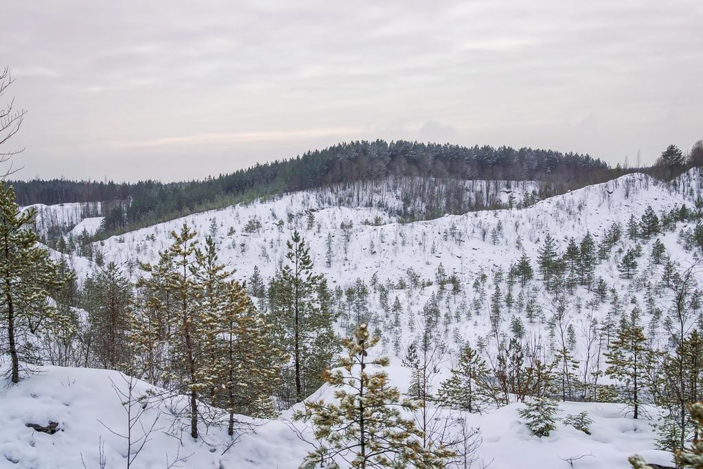 Холмы на карьерах Кохтла-Нымме