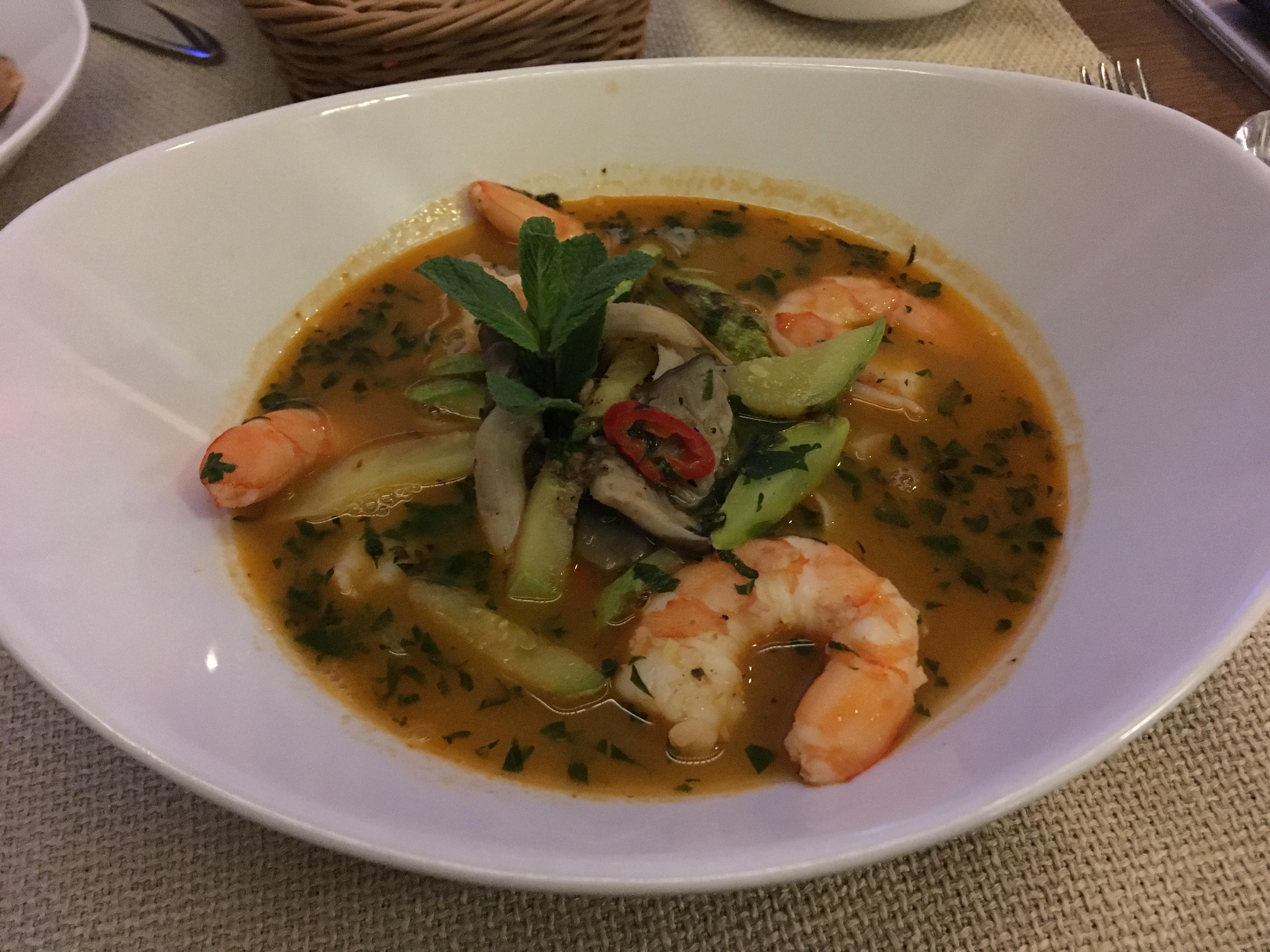 суп Лапша с креветками в Лосось-баре