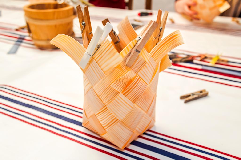 Урок рукоделия, делаем лукошко собственными руками
