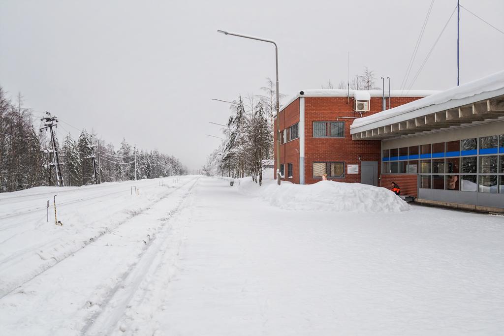 Вокзал города Костомукша в Карелии