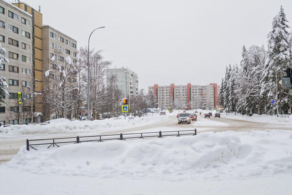 Главная улица в Костомукше