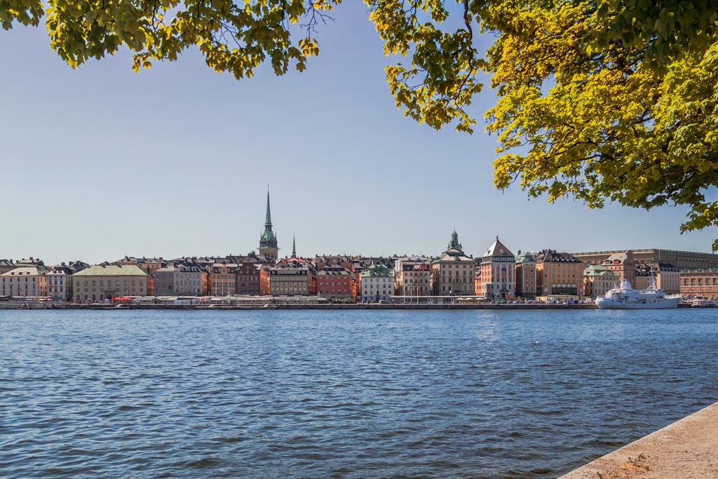 Вид на старый центр Стокгольма