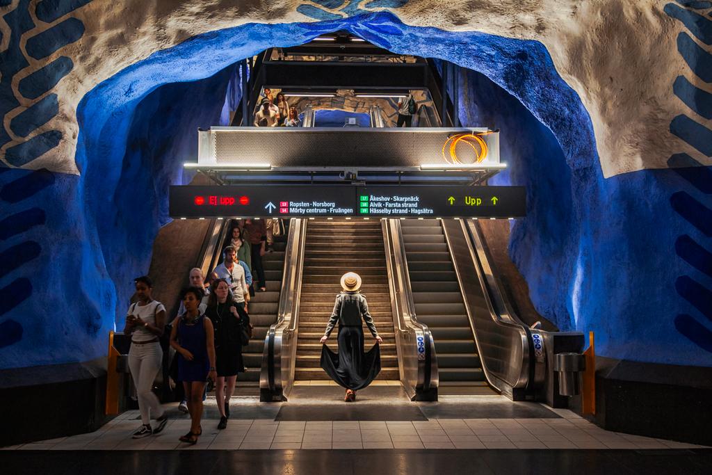 Станция метро в Стокгольме T-cenrtrale или Т-централе.