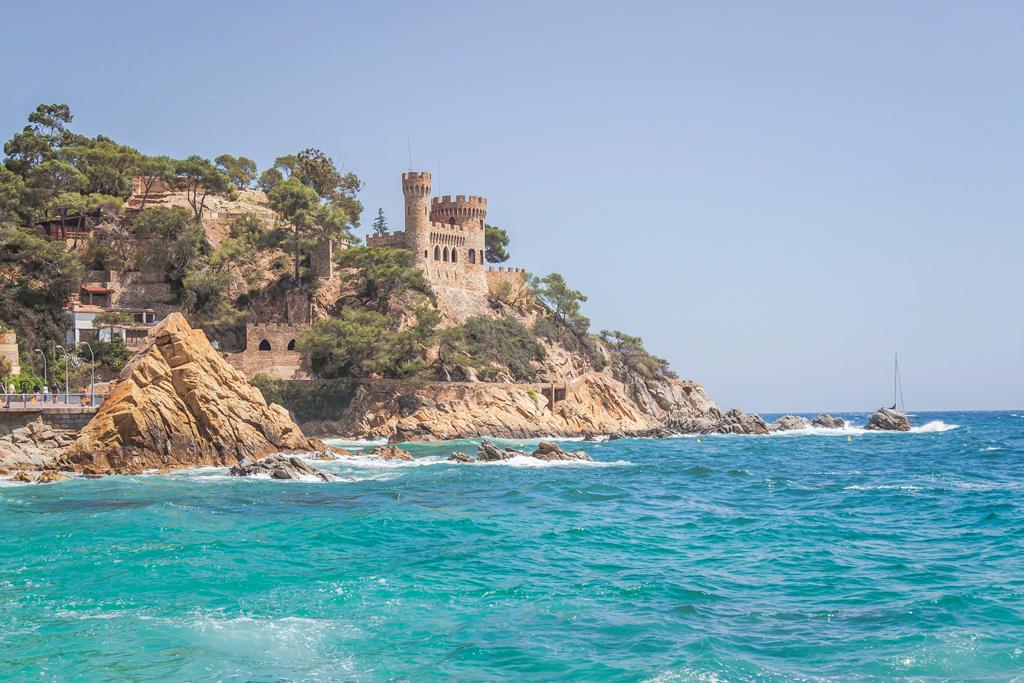 .замок д'эн плажа в Льорет Де Мар. Lloret De Mar
