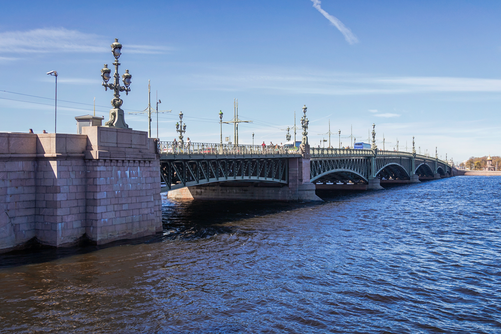 Trinity Bridge in Saint-Petersburg