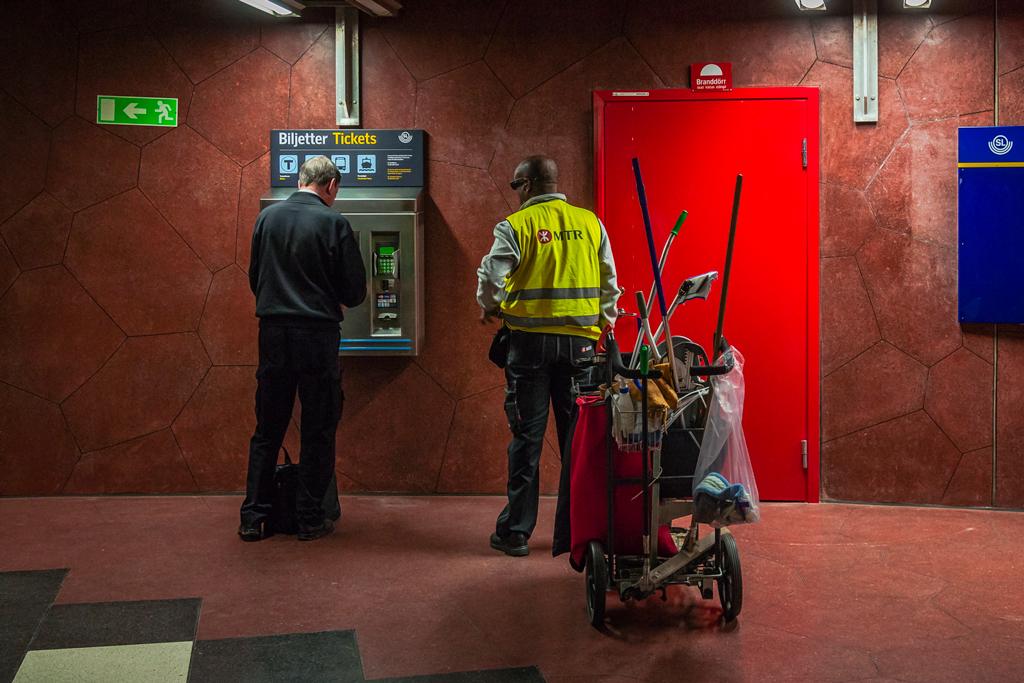 Покупка билета в метро Стокгольма