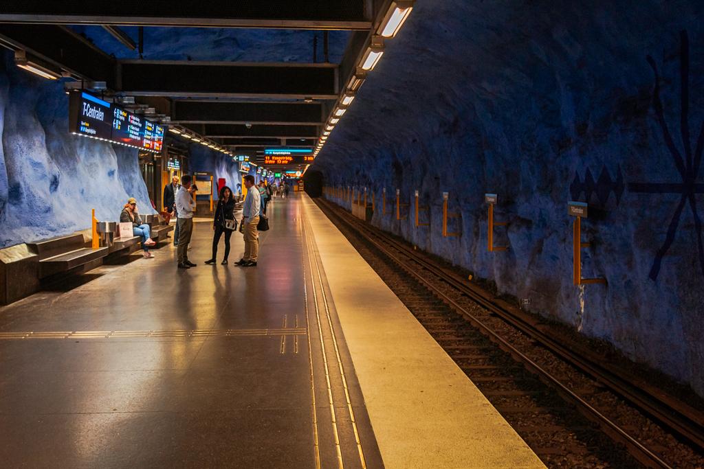 Станция метро в Стокгольме